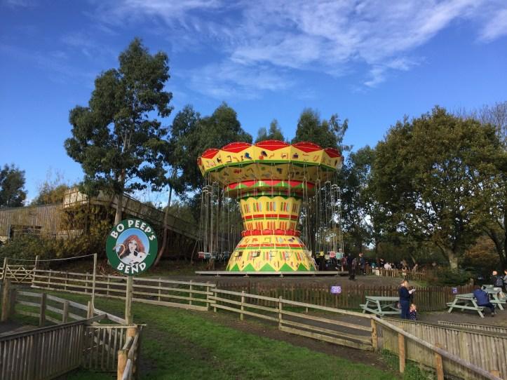 The big sheep devon amusement park carousel ride
