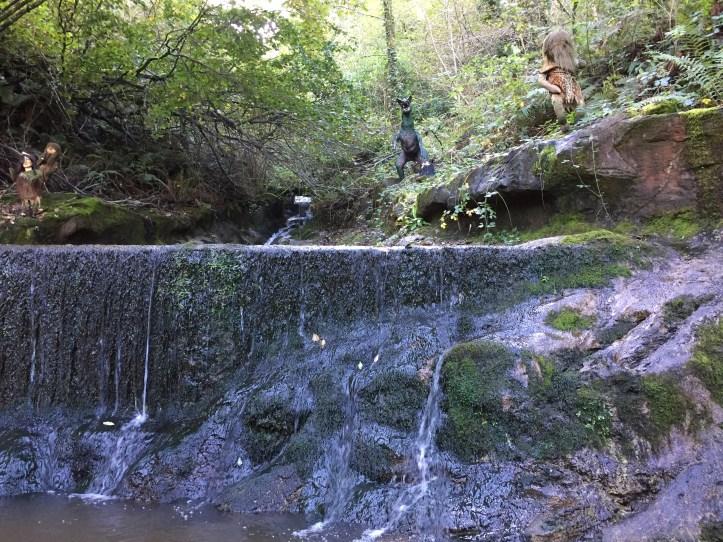 coombe martin dinosaur wildlife park waterfall dino train ride