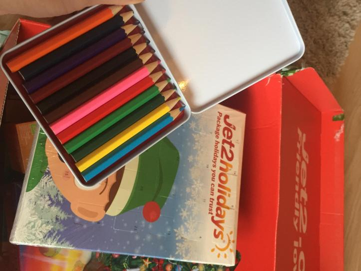 jet2 holidays christmas hamper colouring pencils