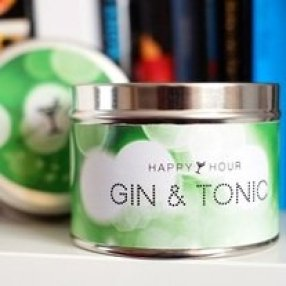 happy hour candles gin and toni christmas gift ideas