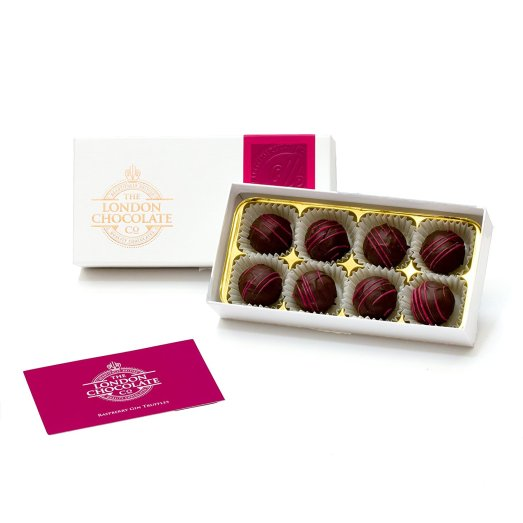 The London Chocolate Company - Raspberry Gin Truffles Gift Box