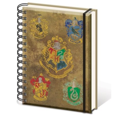 "Harry Potter A5 ""Hogwarts Crests"" Notebook"
