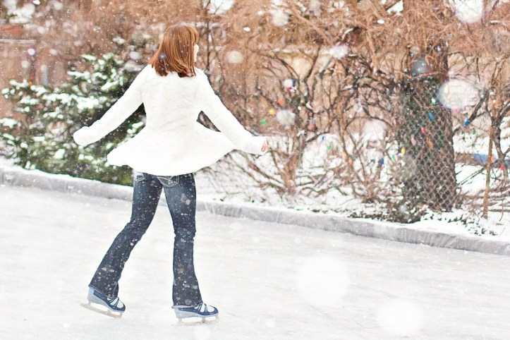 get outside this christmas girl ice skating