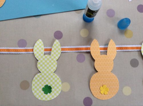 spring easter craft ideas for kids bunny bunting for garden home