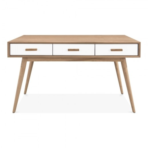 Cult Living Molander Home Office Desk, Ash Wood, Natural