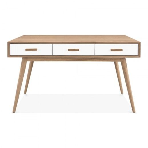 Cult Living Molander Home Office Desk, Ash Wood, Natural