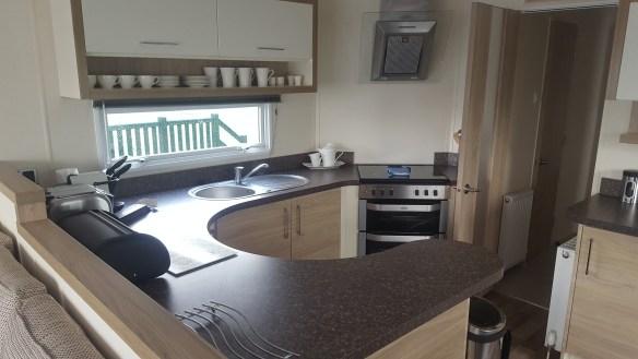 ruda holiday park devon croyde bay caravan lounge area kitchen