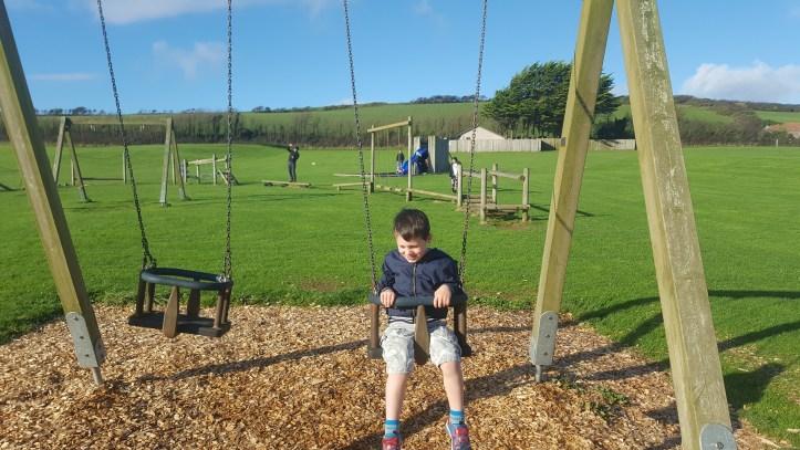 ruda holiday park devon croyde bay swings