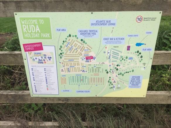 ruda holiday park devon croyde bay site map