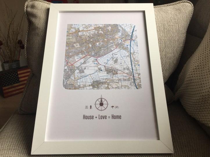 maps international postcode artwork for home