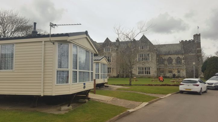 john fowler trelawne manor in Looe Cornwall review of caravan mobile home
