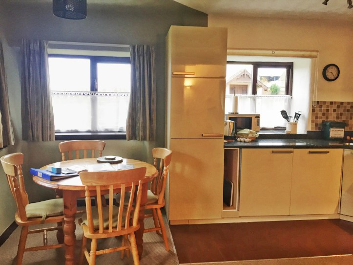 west withy farm cottages in Exmoor Devon perfect for digital detox family holiday kitchen dining area