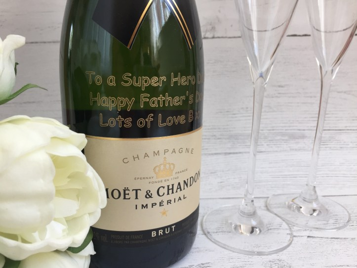 Personalised Moet Champagne GiftsOnline4U engraved text