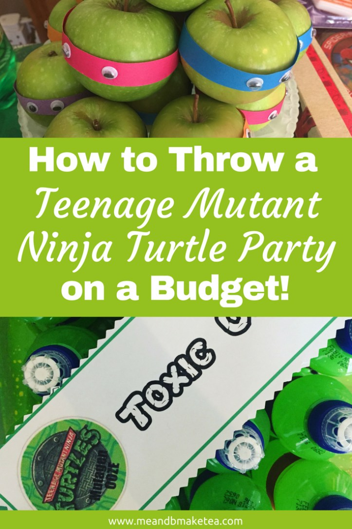 Teenage Mutant Ninja Turtle Party food ideas that are really easy to do - pizza is ideal