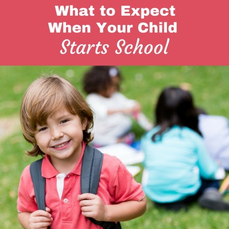 child going to school for first time
