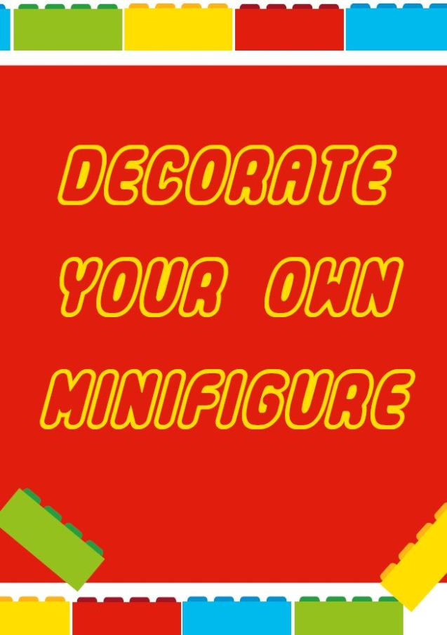 decorate your own minifigure free lego party printable