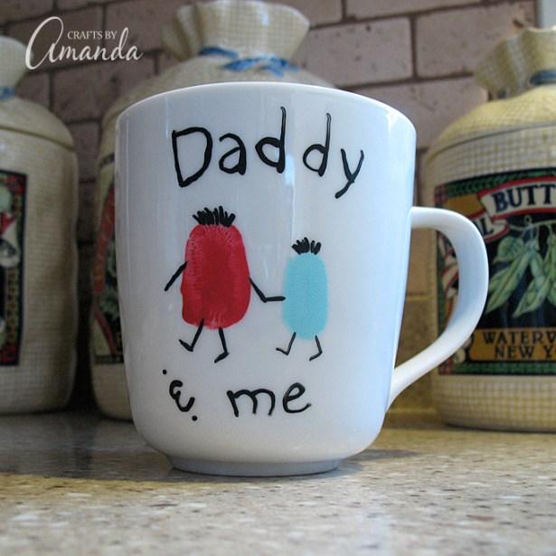 Father's Day Crafts to Make With Kids thumb print mug