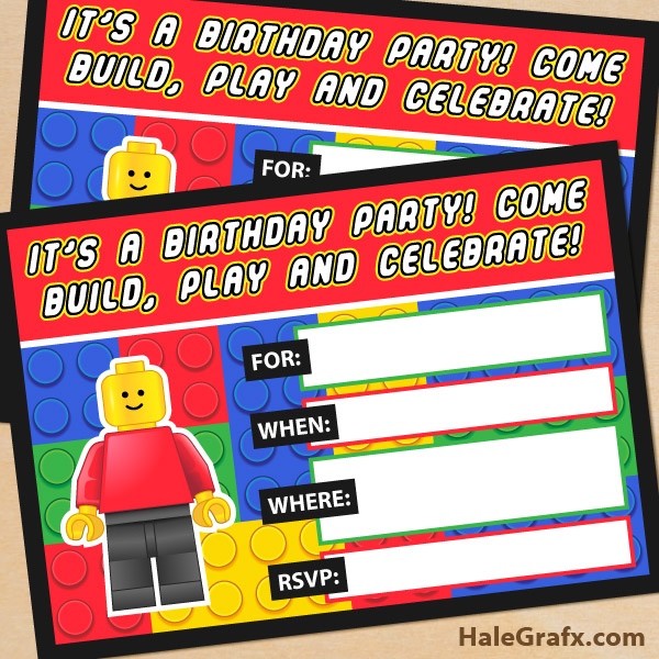 lego invitation ideas - perfect for parties