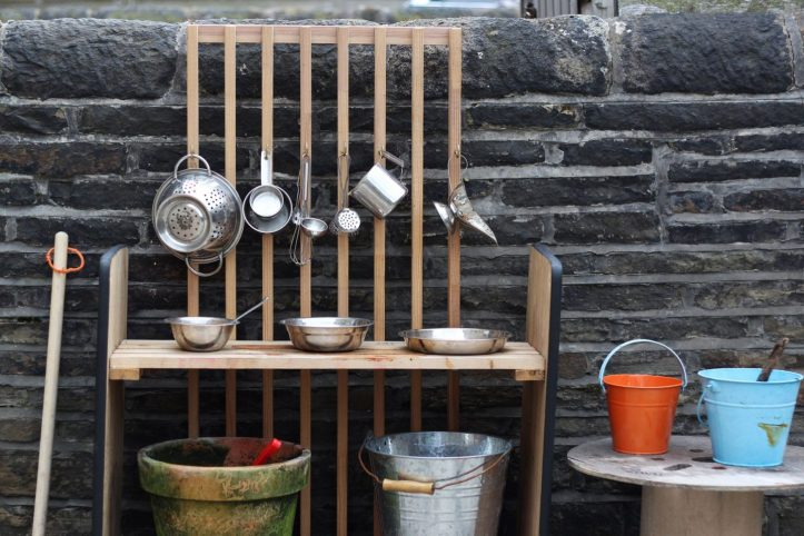 how to make a mud kitchen for summer outdoor play for kids on a budget | cheap ideas low cost for sensory play using old wardrobe