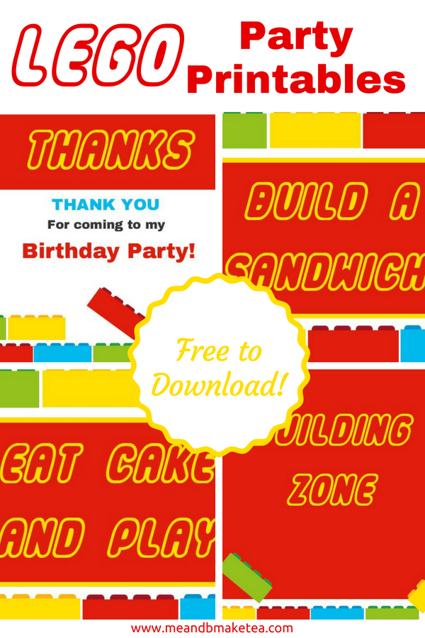 Free Lego Printables You Need for your Next Party!