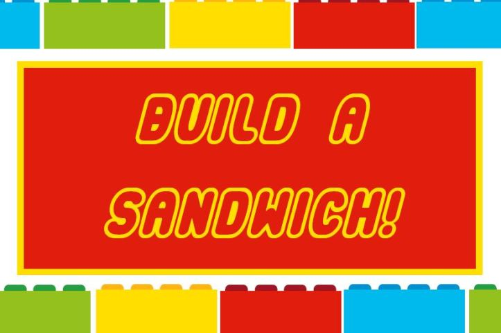 build a sandwich lego party printables for free