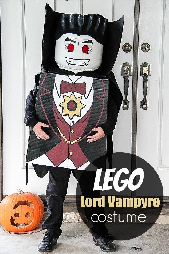 DIY Lego Vampire Halloween costume