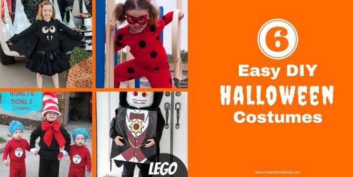 Super Easy DIY Halloween costume ideas for kids.
