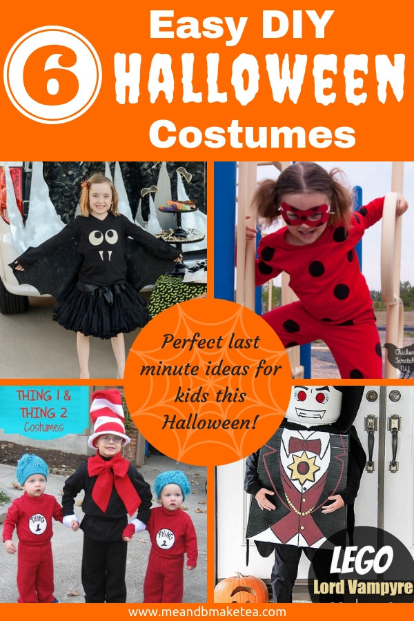 Looking for easy DIY make your own Halloween costumes and fancy dress ideas for this Halloween party time? Take a look at these ideas for kids. Some no-sew!