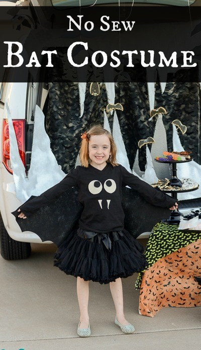 no sew bat costume for halloween