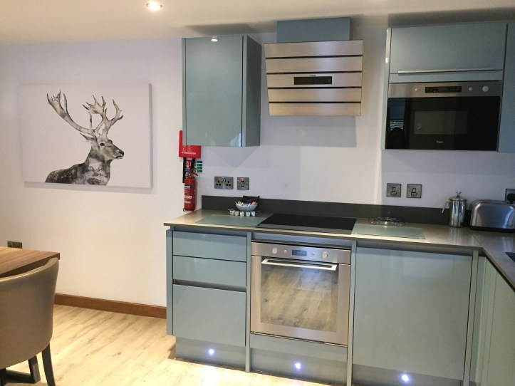 Beyond escapes luxury lodges in Devon - open plan kitchen and diner