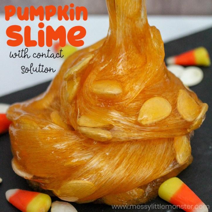 Super easy Halloween slime recipe