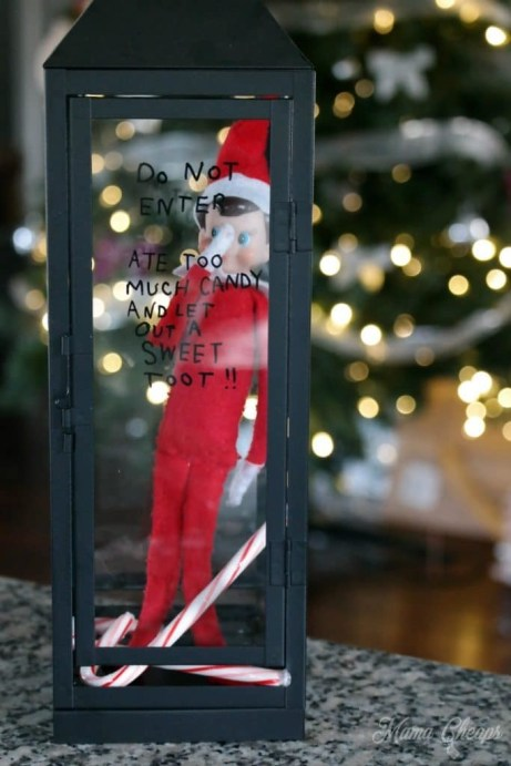 elf on the shelf ideas that are easy - elf in jail