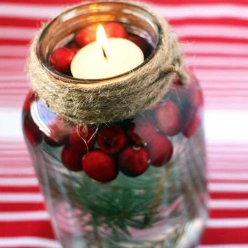 Mason Jar Candle Decorations