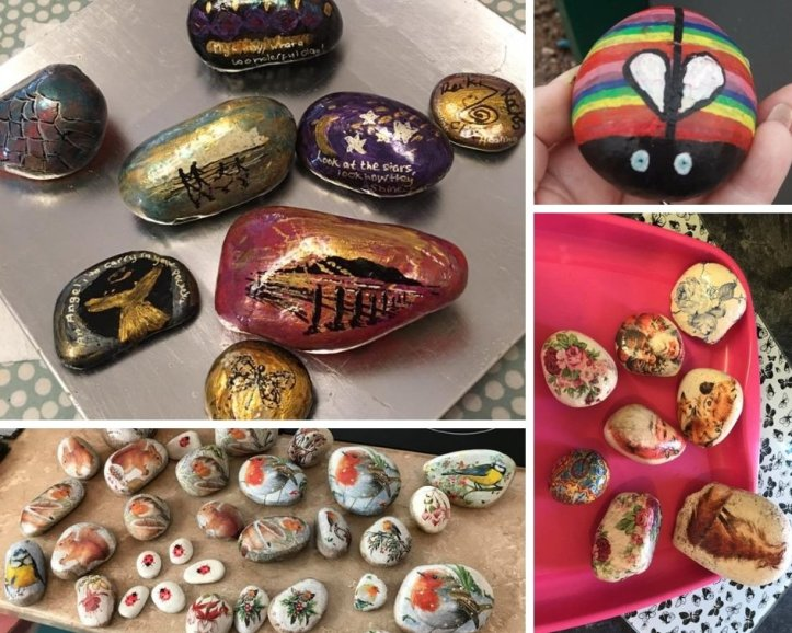 rock painting ideas and inspiration that are easy to do