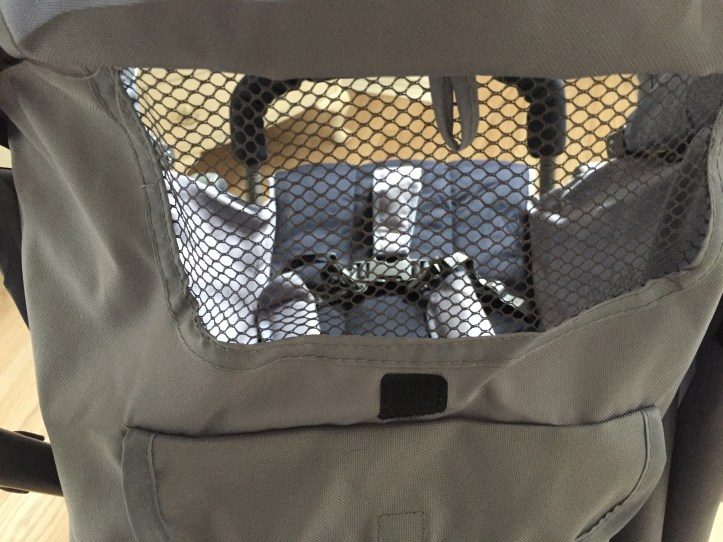 infababy halo stroller review and photos - storage and viewing window