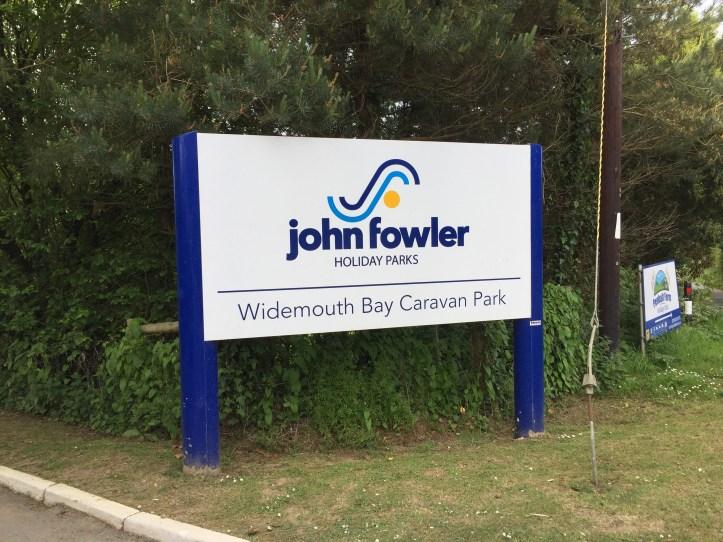 john fowler widemouth bay caravan park entrance bude cornwall