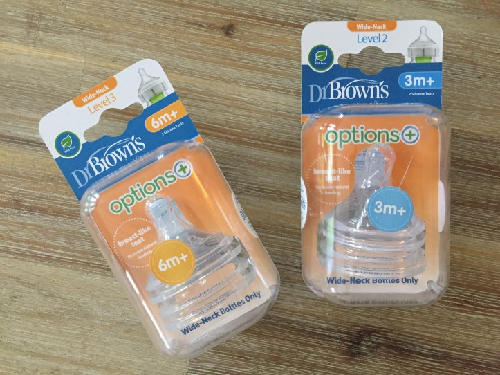 dr browns anti colic options bottle range review - teats and nipples