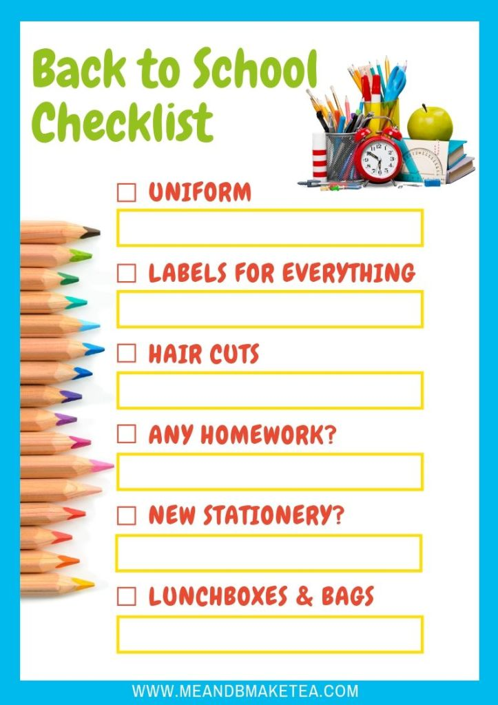 back to school checklist and essentials for busy mums