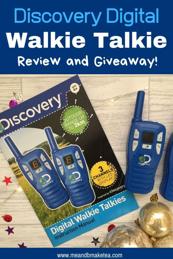 discovery walkie talkie set review and giveaway thumbnail for pinterest