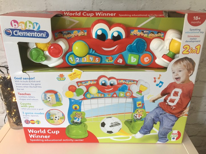 Baby Clementoni football goal toy review - toy in box
