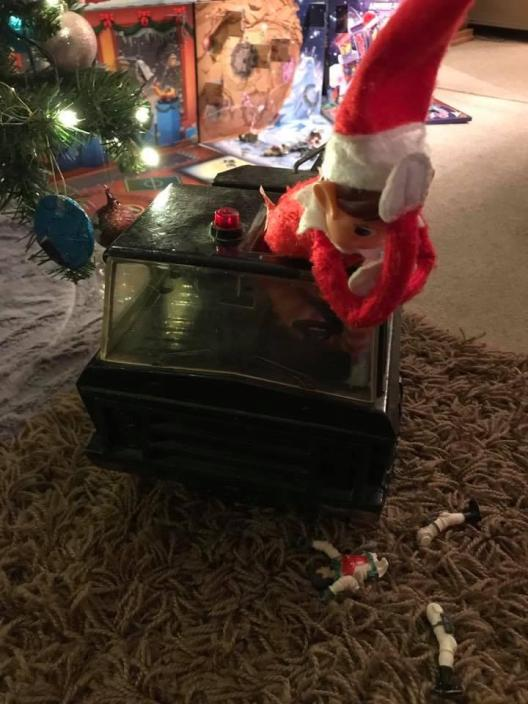 elf has an accident