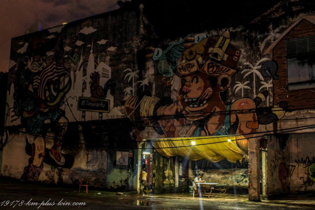 Kuala Lumpur Street Art By Night