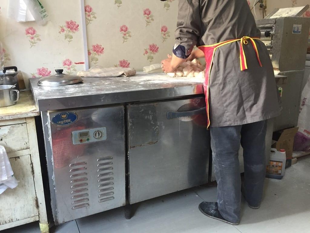 Handmade bao each morning - Xi'an