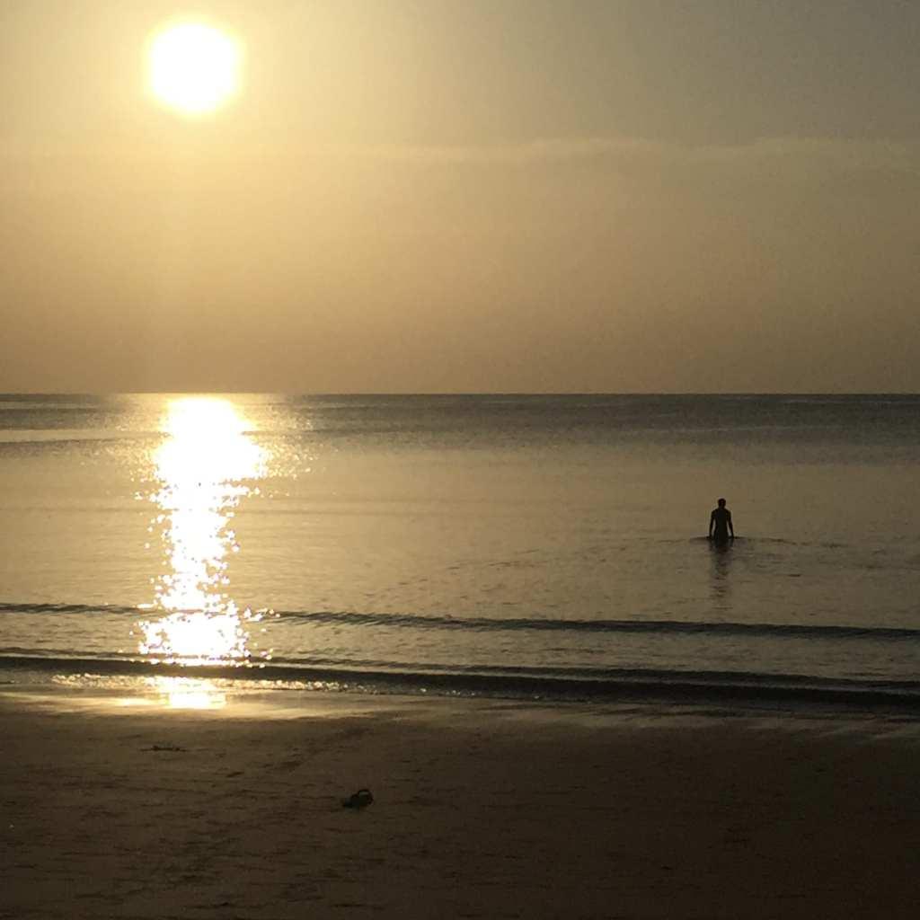 Sunset swim at Nai Yang, Phuket