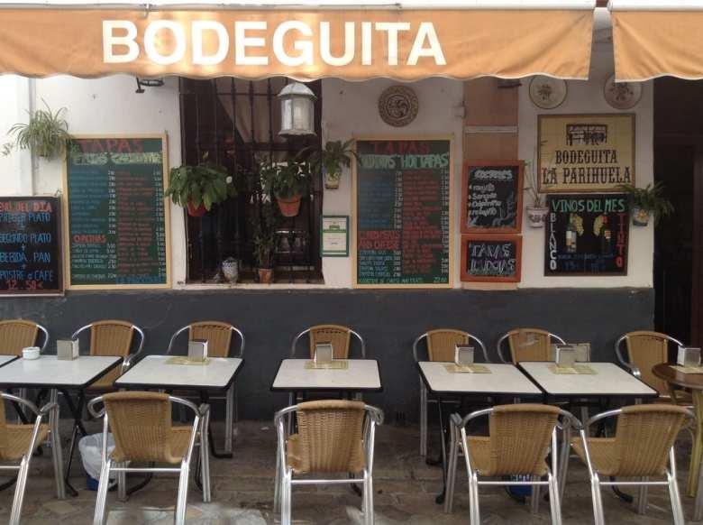 Street restaurant in seville