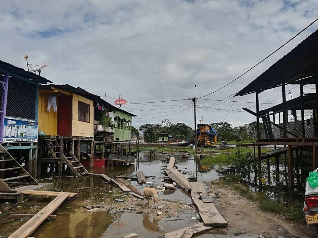 Stilt houses in Leticia