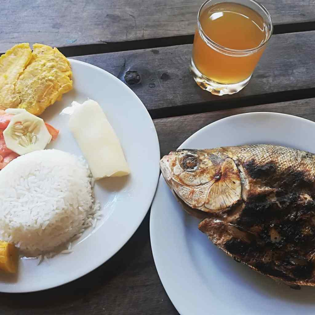 Eating Piranha in Leticia, Amazonas