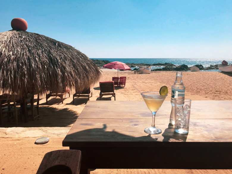 Margaritas on the beach are a popular past time at all the different Oaxaca Coast beaches