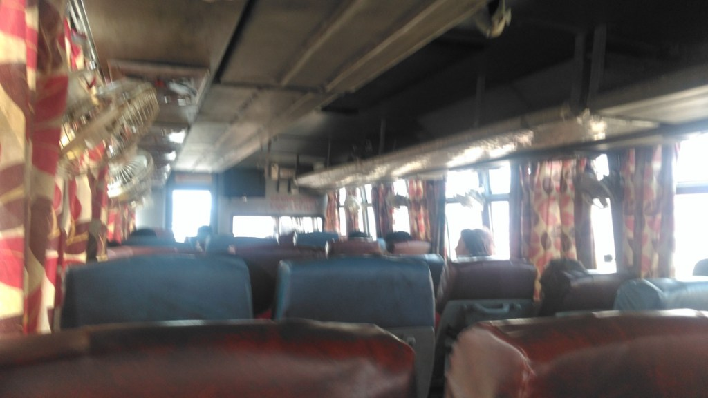 From India to Nepal, this is a photo of the bus I spent 26 hours sick in.