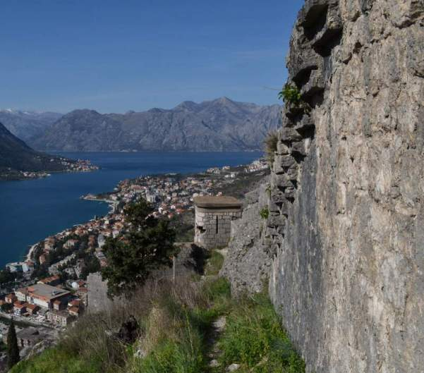 Wall of the Kotor fortress - Meanderbug